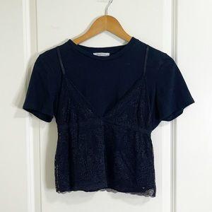 🤍 5/$25 Zara lace bralette crop top